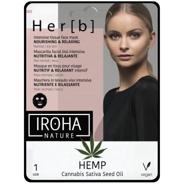 Her[b] Masque tissu visage nutrition & relaxation peau normale à sèche Iroha