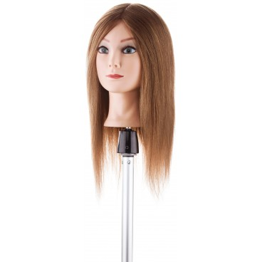 Tête d'apprentissage cheveux moyens-longs carré droit