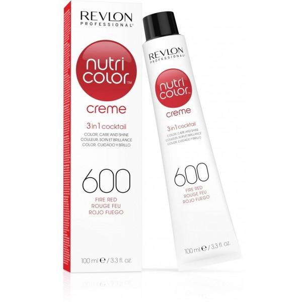 Tubo de color crema Revlon Nutri 600 Rojo Fuego 100 ML