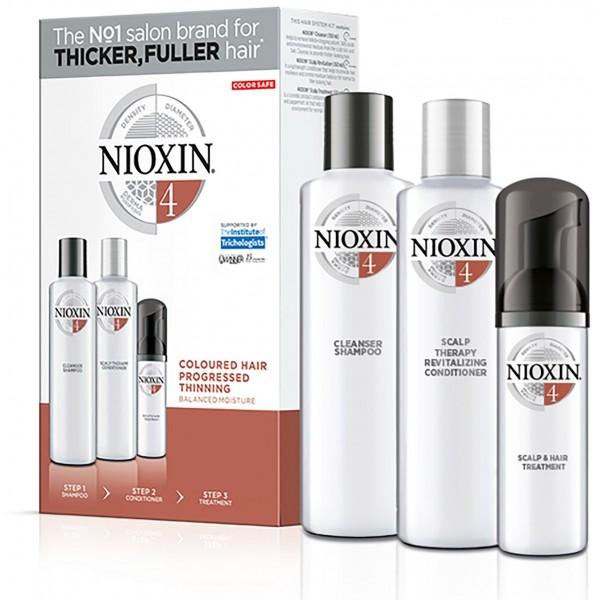 Confezione cura Nioxin n°4 - Capelli visibilmente radi ...