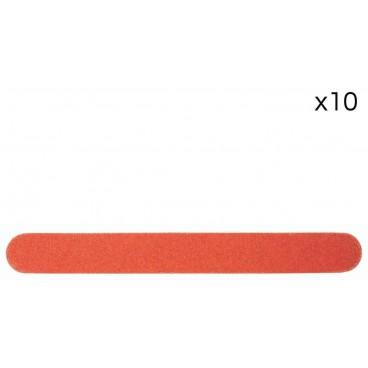 Pack de 10 mini limes double-face jetable dures 100/100