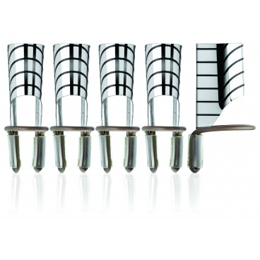 Pack de 5 guides forme réutilisation pour ongles