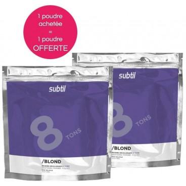 Offre spéciale Subtil Blond Poudre Décolorante 8 tons 500 Grs x 2