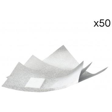 50 feuillettes aluminium pour dépose semi-permanent Sibel