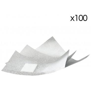 100 feuillettes aluminium pour dépose semi-permanent Sibel