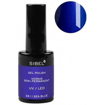 Vernis semi-permanent n°28 I Sea Blue Sibel 14ML