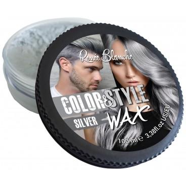 Cire coiffante et colorante Color&Style Wax argent Renée Blanche 100ML