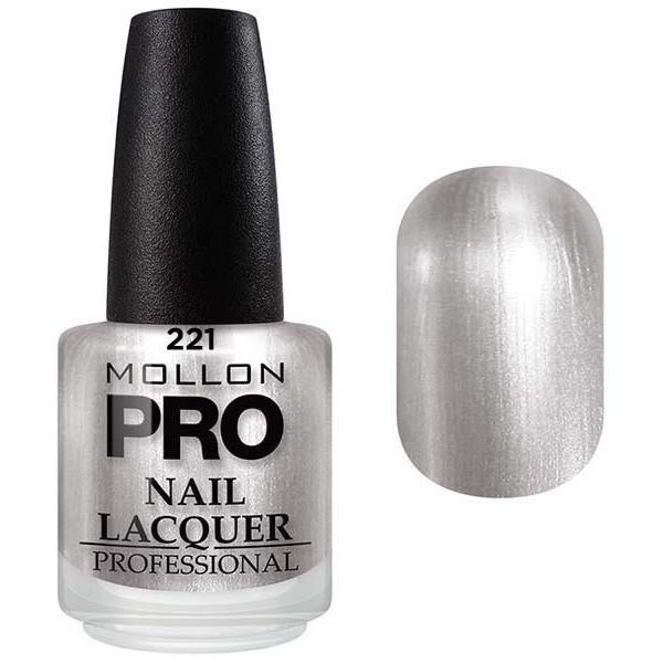 laca clásica 15 ml Mollon Pro Plata Brillo - 221
