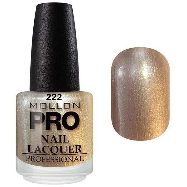laca clásica 15 ml Mollon Pro brillo dorado - 222