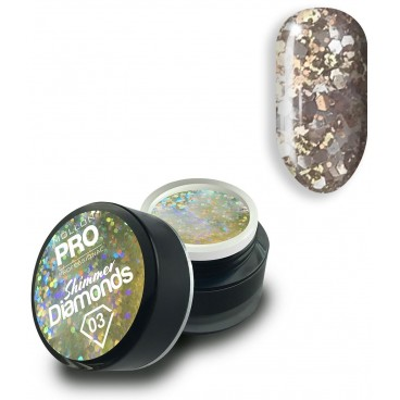 Gel holographique Shimmer Diamonds n°3 Mollon Pro