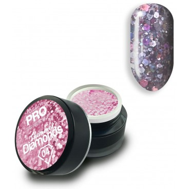 Gel holographique Shimmer Diamonds n°4 Mollon Pro