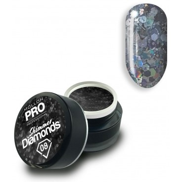 Gel holographique Shimmer Diamonds n°8 Mollon Pro