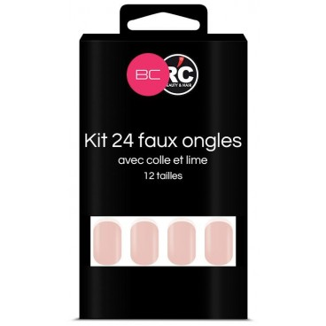 Boîte de 24 tips faux-ongles French Beauty Coiffure
