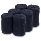 Lote 6 Toallas negras Barburys 20 X 70 cm