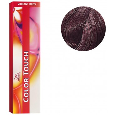Coloration Color Touch Vibrant Reds n°4/6 châtain violine Wella 60ML