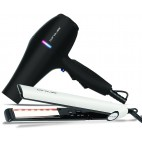 Paquete de enderezadora infrarroja y secador de cabello Flow +