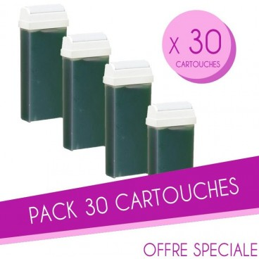 Pack 30 Cartouches cire 100 ML Vertes