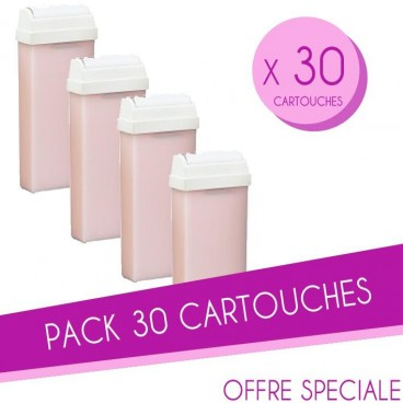 Pack 30 Cartouches cire 100 ML Roses