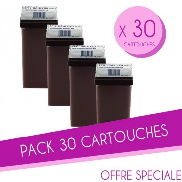 Pack 30 Cartouches cire 100 ML Chocolat