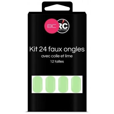Scatola da 24 punte per unghie finte Paradise Green Beauty Coiffure