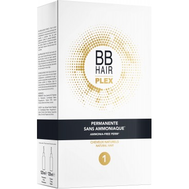 Permanente sans ammoniaque n°1 cheveux naturel BBHair Plex