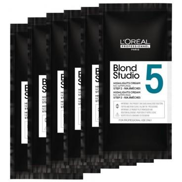 6 sachets de décoloration 5 tons Majimèches Blond Studio L'Oréal Professionnel 25g