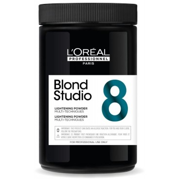 Polvo decolorante multitécnica 8 tonos Blond Studio L'Oréal Professionnel 500g
