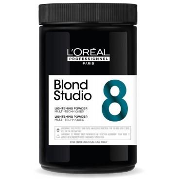 Poudre décolorante multi-techniques 8 tons Blond Studio L'Oréal Professionnel 500g
