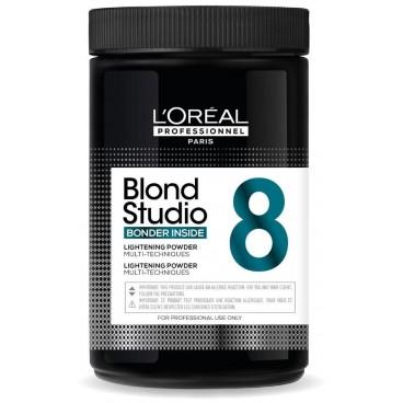 Polvere decolorante 8 toni Bonder integrato Blond Studio L'Oréal Professionnel 500g