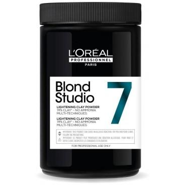 Poudre décolorante 7 tons sans ammoniaque Blond Studio L'Oréal Professionnel 500g