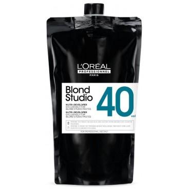 Oxidierende Creme Nutri-Entwicklung 40V Blond Studio L'Oréal Professionnel 1L