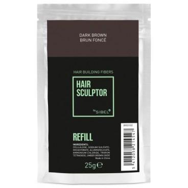 Recharge fibre Hair Sculptor brun foncé Sibel 25g