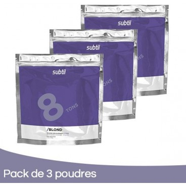 Pack 3 Poudres Subtil Blond 500 Grs