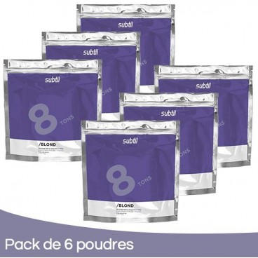 Pack 6 Powders Subtile Blond 500 Grs