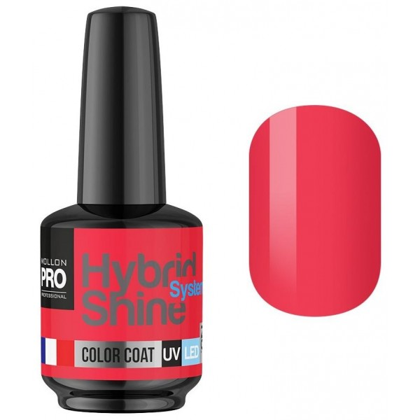 Mini Vernis Semi-Permanent Hybrid Shine Mollon Pro 8ml Coral 2/04