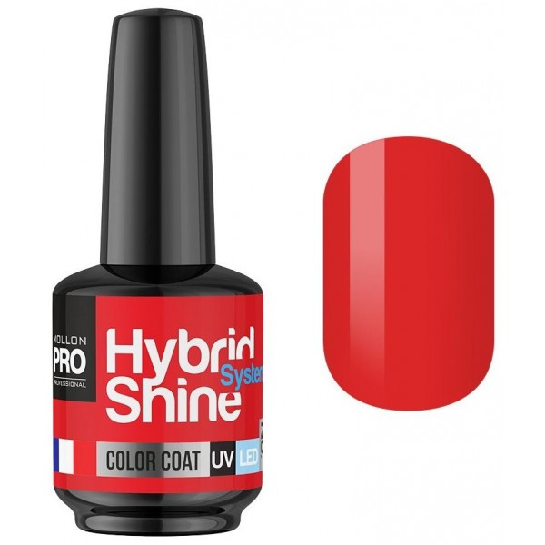 Mini Vernis Semi-Permanent Hybrid Shine Mollon Pro 8ml Ruby 2/05