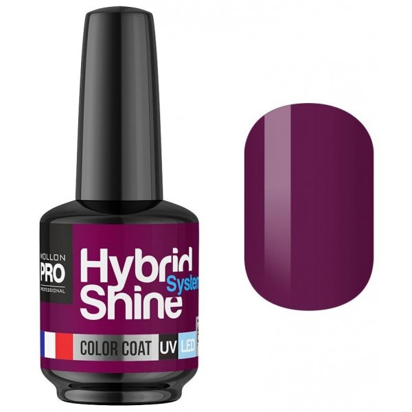 Semi-Permanent Mini Varnish Hybrid Shine Mollon Pro 8ml Fuchsia 2/07