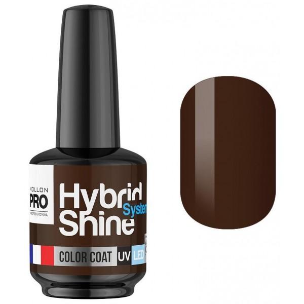 Mini Vernis Semi-Permanent Hybrid Shine Mollon Pro Chocolate 2/10