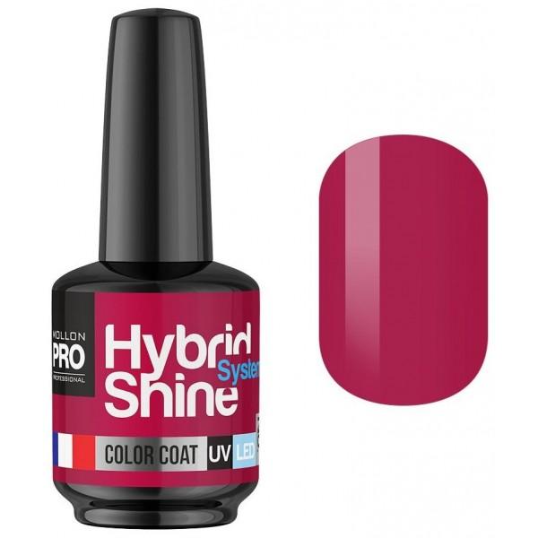 Mini Vernis Semi-Permanent Hybrid Shine Mollon Pro 8ml Red Paradise 2/126