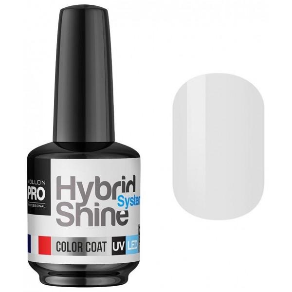 Mini Vernis Semi-Permanent Hybrid Shine Mollon Pro White Fog 2/127