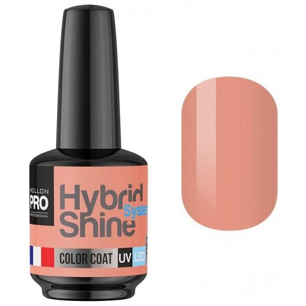 Semi-Permanent Varnish Hybrid Shine Mollon Pro 8ml Nude Powder 2/128