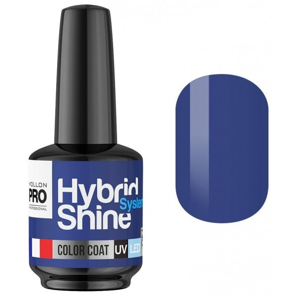 Mini Vernis Semi-Permanent Hybrid Shine Mollon Pro 8ml Blue Ecstasy 2/130