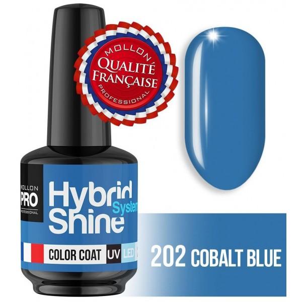 Mini Vernis Semi-Permanent Hybrid Shine Mollon Pro Cobalt Blue 2/202