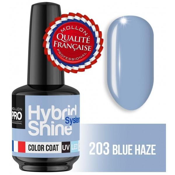 Mini Vernis Semi-Permanent Hybrid Shine Blue Haze 2/203