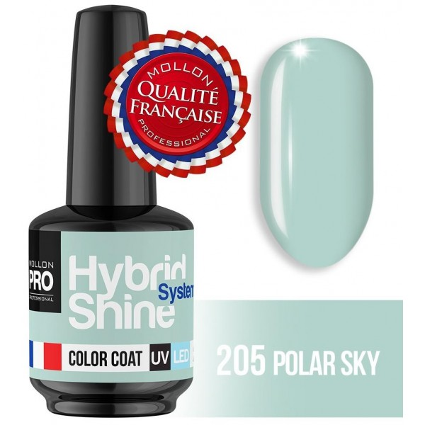 Mini Vernis Semi-Permanent Hybrid Shine Mollon Pro Polar Sky 2/205