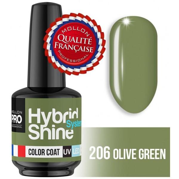Mini smalto semi-permanente Hybrid Shine Olive Green 206