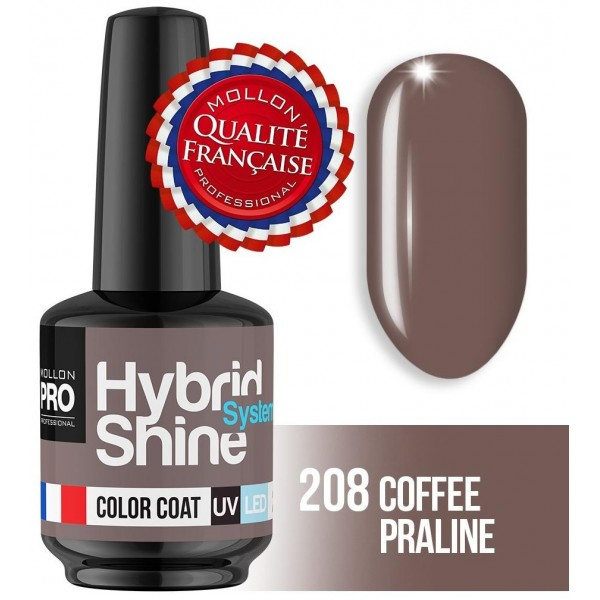 Mini smalto semi-permanente Hybrid Shine Coffee Praline 2/208