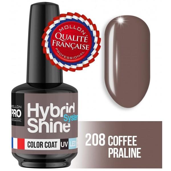 Mini Vernis Semi-Permanent Hybrid Shine Mollon Pro Coffe Praline 2/208