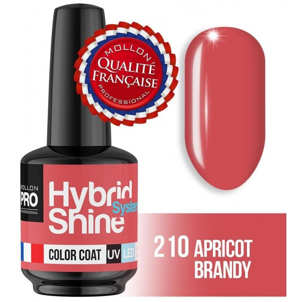 Mini Varnish Semi-Permanent Hybrid Shine Apricot Brandy 2/210