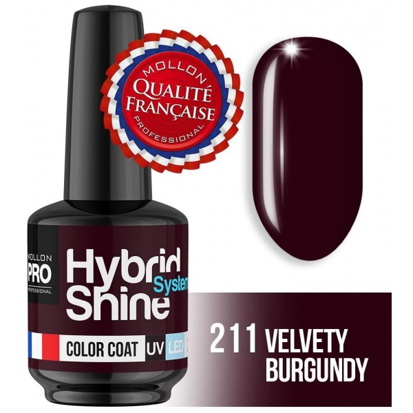 Mini Vernis Semi-Permanent Hybrid Shine Mollon Pro Velvety Burgundy 2/211